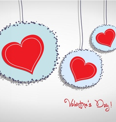 Valentine hang heart on wall vector