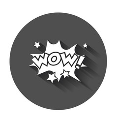 Wow comic sound effects sound bubble speech with vector