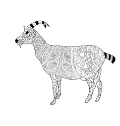 Goat coloring for adults vector