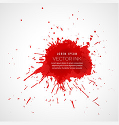 Red splatter ink drop effect vector