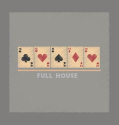 flat shading style icon full house vector image