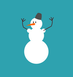 Snowman isolated snow hero for new year christmas vector