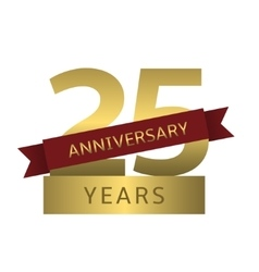 25 years anniversary vector