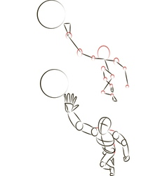 Man Playing with a Ball vector image