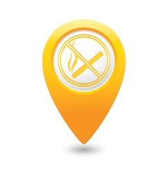 No smoking map pointer yellow vector