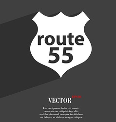 Route 55 highway icon symbol flat modern web vector