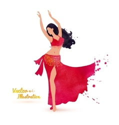 Belly dancer vector