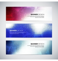 A set of modern banners with polygonal vector