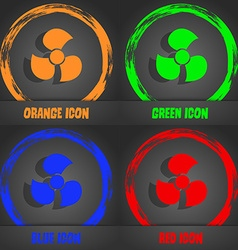 Fans propeller icon sign fashionable modern style vector