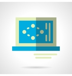 Science laptop flat color abstract icon vector