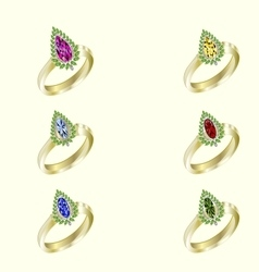 Womens jewelry rings vector