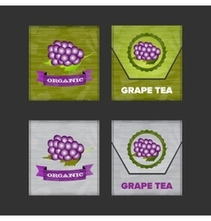 Fruit tea bags vector