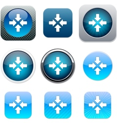 Click here blue app icons vector
