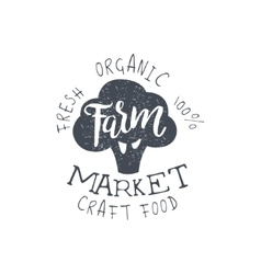 Craft food vintage emblem vector