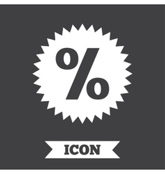 Discount percent sign icon star symbol vector