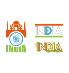 Abstract flag icons for india vector