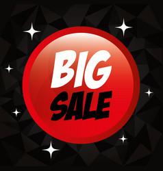 big sale promotion icon vector image