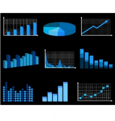 business charts vector image