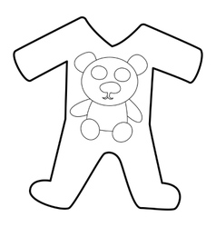 Childrens romper suit icon isometric 3d style vector