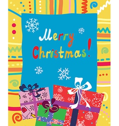 Christmas presents card vector image vector image