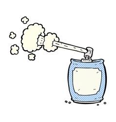Comic cartoon aerosol spray can vector