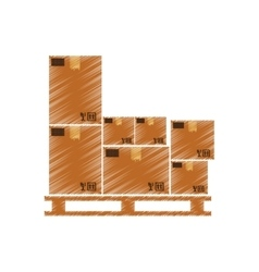 Delivery box shipping vector image