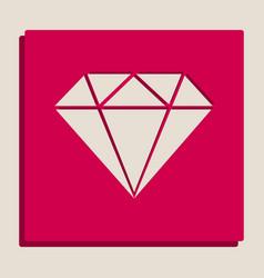Diamond sign grayscale vector