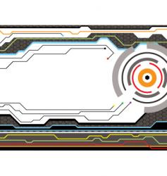 Digital future style radiate vector