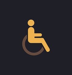 Disabled computer symbol vector image