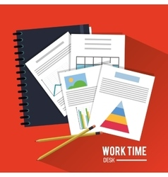 Document office work time supply icon vector