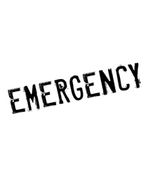 Emergency rubber stamp vector image vector image