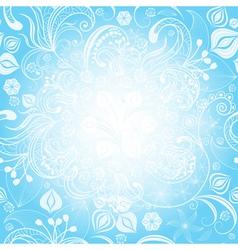 gentle blue easter floral frame vector image vector image