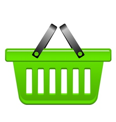 green Basket vector image