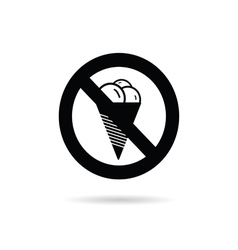 ice cream sign fresh black vector image