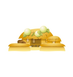Icon traditional house vector