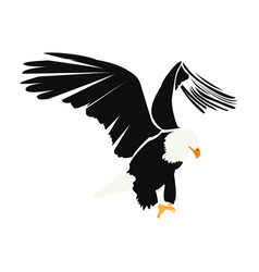 Isolated abstract eagle vector