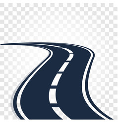 isolated black color road or highway with dividing vector image vector image