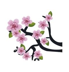 Japanaese culture tree icon vector