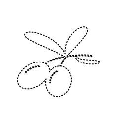 Olives sign black dashed vector
