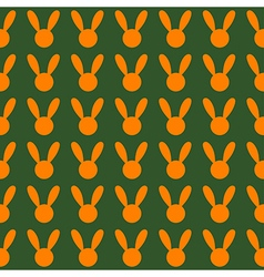 Orange rabbit green background vector