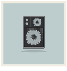 Retro Background Loudspeaker vector image