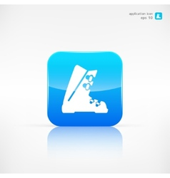 Ski shoes web icon vector