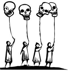 Skull Balloons vector image