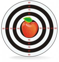 Target apple inside vector