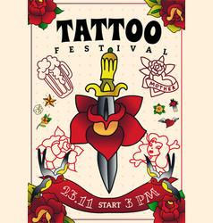 Tattoo festival poster vector
