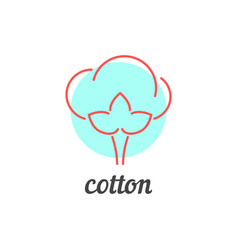 Thin line cotton icon vector