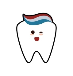 Tooth paste dental care health hygiene icon vector