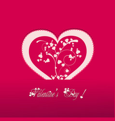 Valentine heart pink background vector