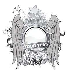 vintage label with wings vector image vector image