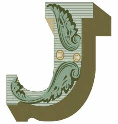 western letter j vector image vector image